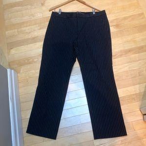 Navy Pinstripe dress pant ankle length. Size 14